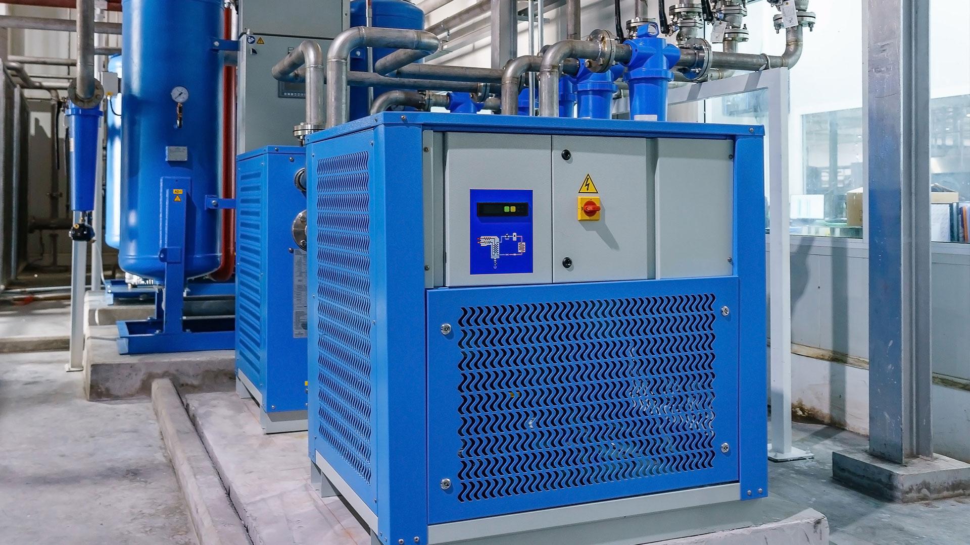 Koeldroger groot compressor perslucht filters