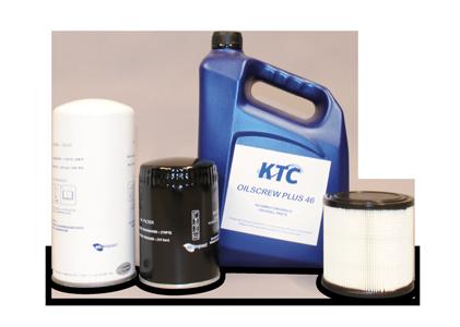 KTC schroefcompressor onderdelen filters en olie