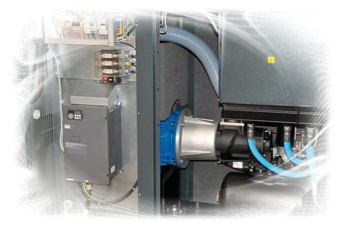 KTC frequentie geregelde schroefcompressor VSD direct aangedreven schroefcompressor