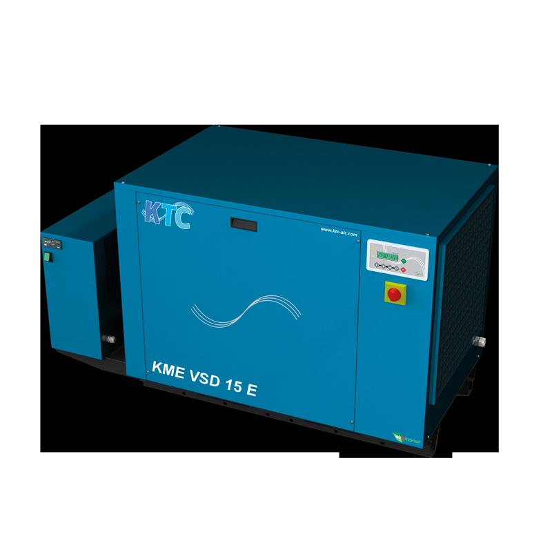 schroefcompressor 11 - 15 kw frequentie geregeld met droger