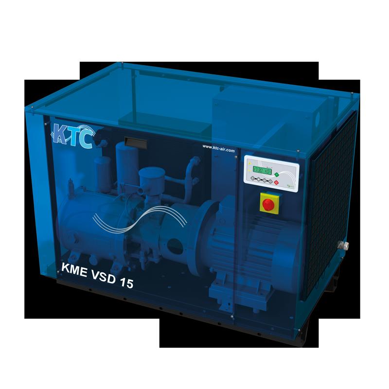 11 - 15 kw frequentie geregelde schroefcompressor VSD toeren geregelde