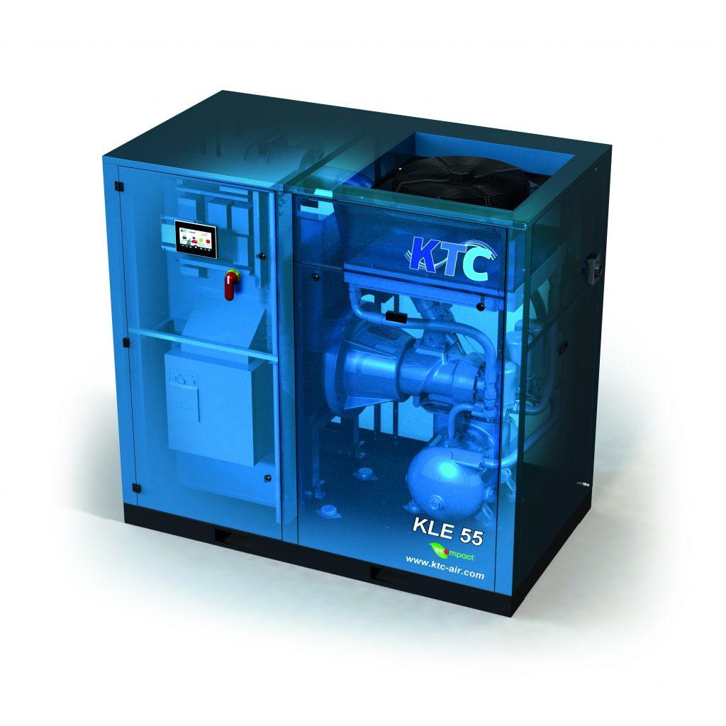 KLE schroefcompressor frequentie geregeld 75 80 PK compressor